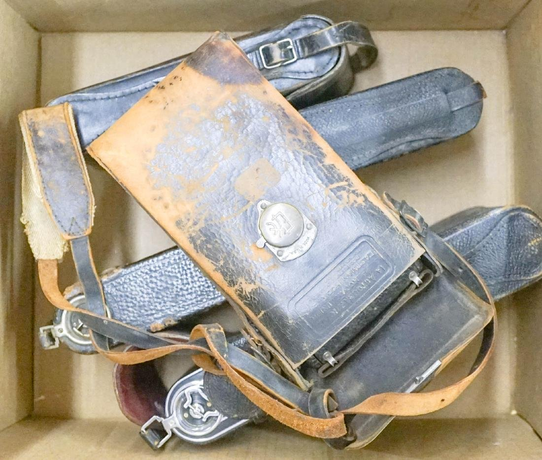 Group of Old Folding Cameras