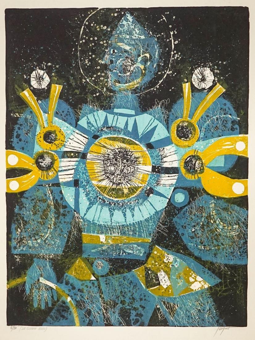 Pierre Jacquot Lithograph [Le Clown Bleu]