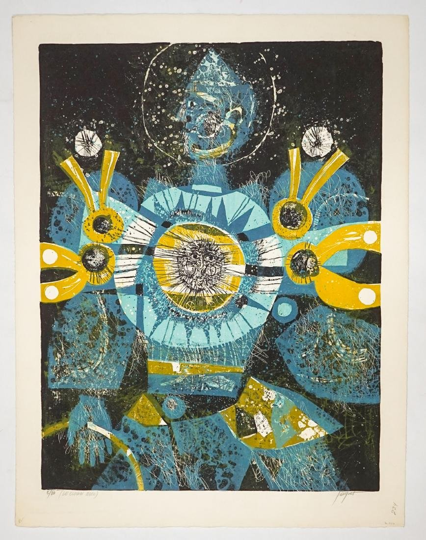 Pierre Jacquot Lithograph [Le Clown Bleu] - 2