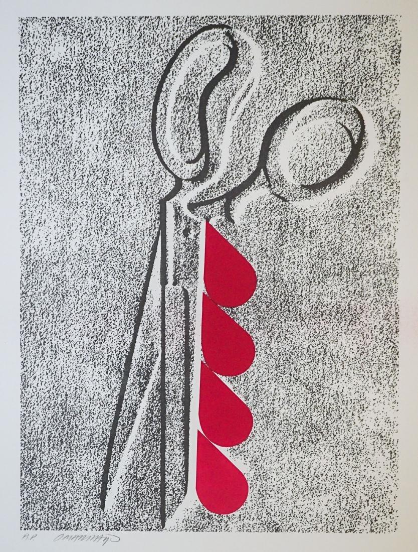 Omar Rayo (Columbian 1928-2010) A.P. Lithograph