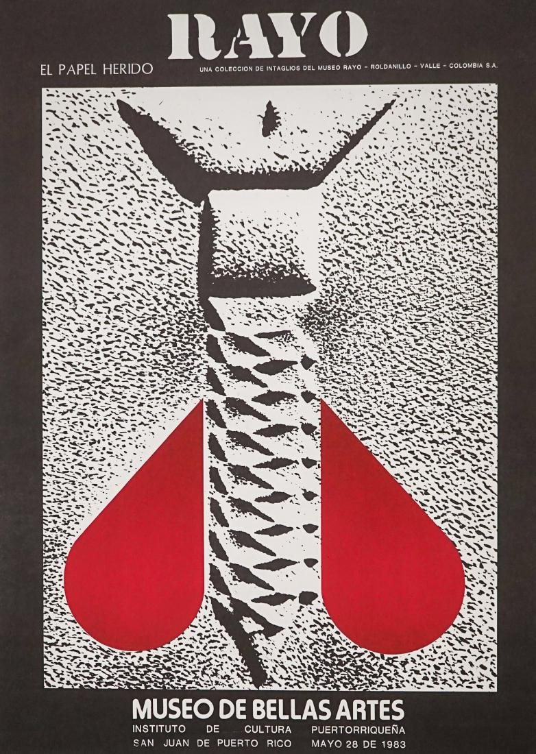 Omar Rayo Exhibition Lithograph