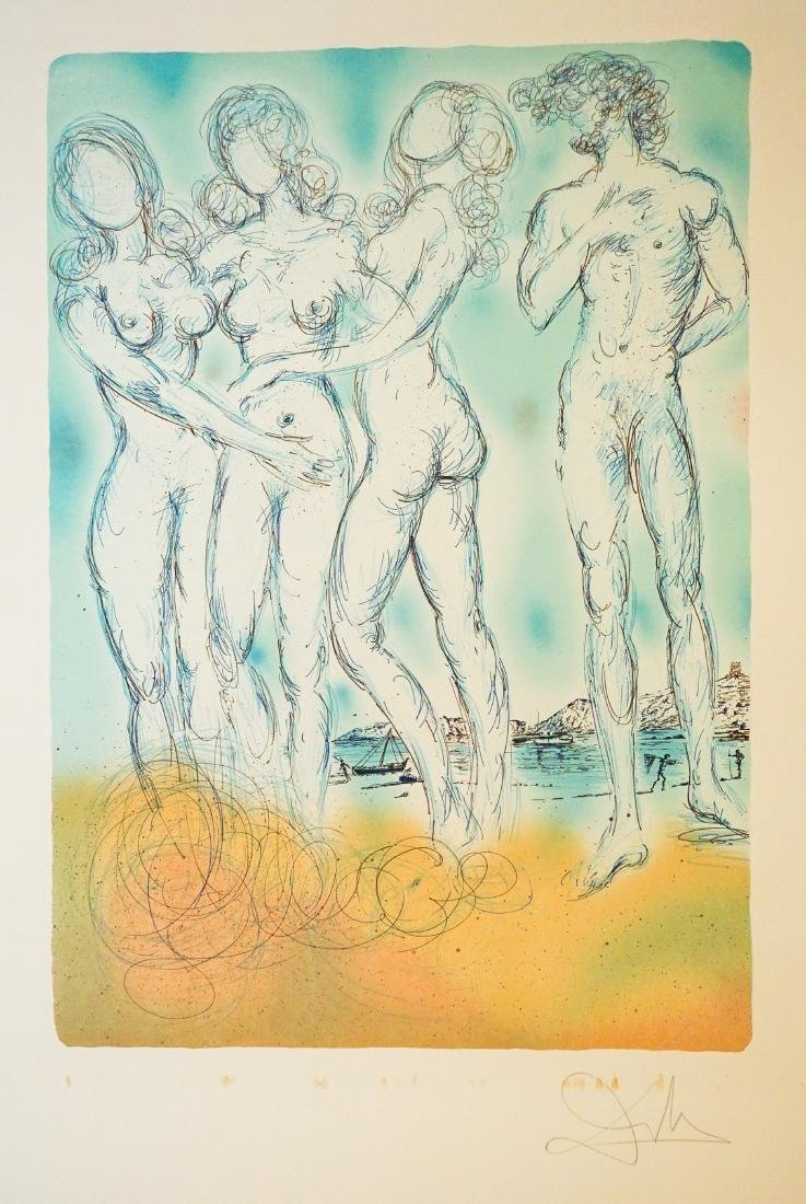 Salvador Dali Signed Lithograph E/O Printer Dumas