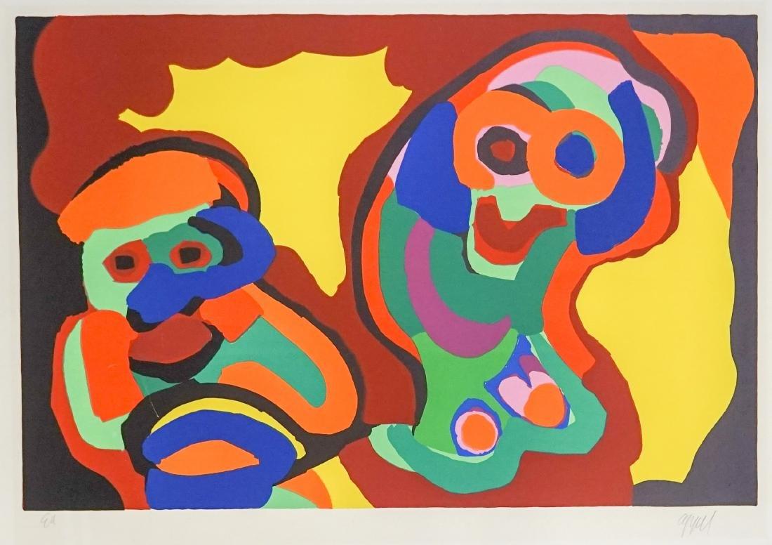 Karel Appel Large Artist Proof Color Lithograph