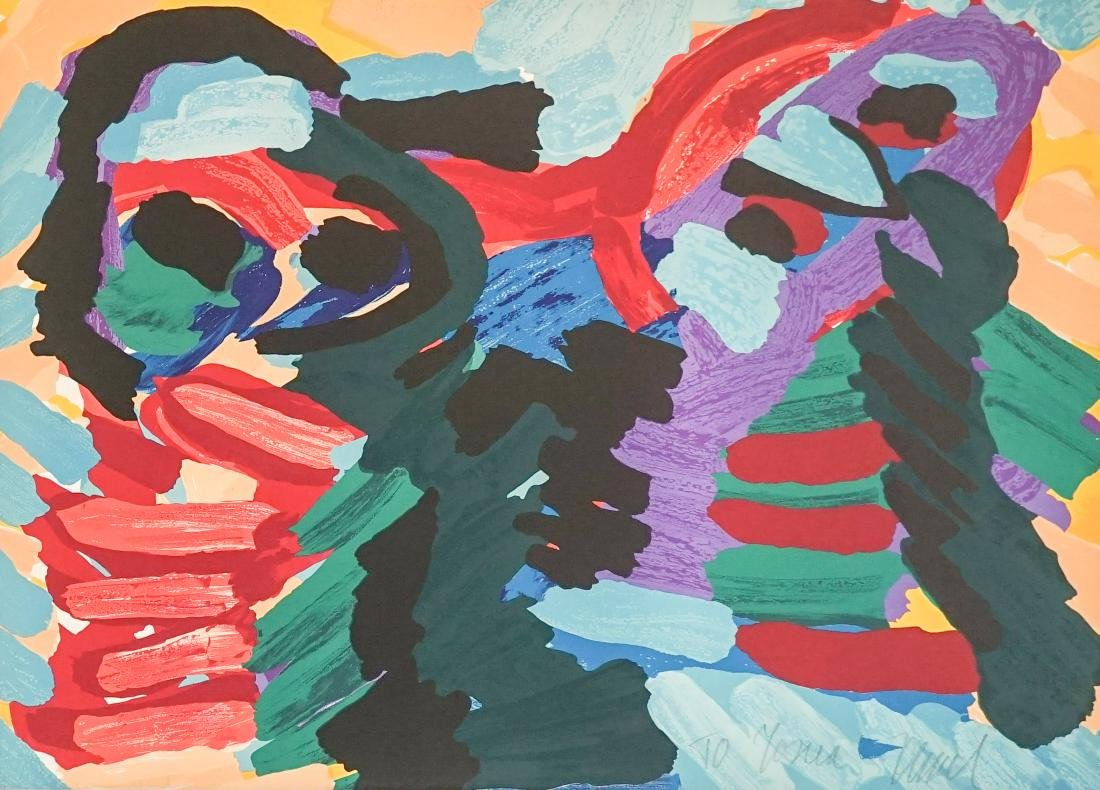 Karel Appel Lithograph Fr. E/O Printer Jorge Dumas