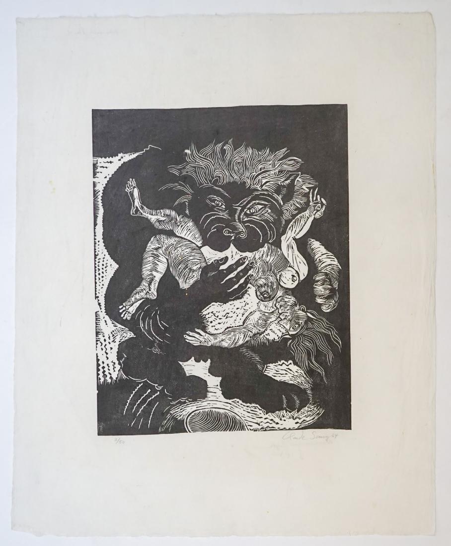 Claude Saucy (born 1929) Linocut - 2