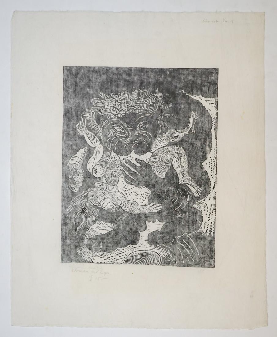Claude Saucy (born 1929) Linocut - 4