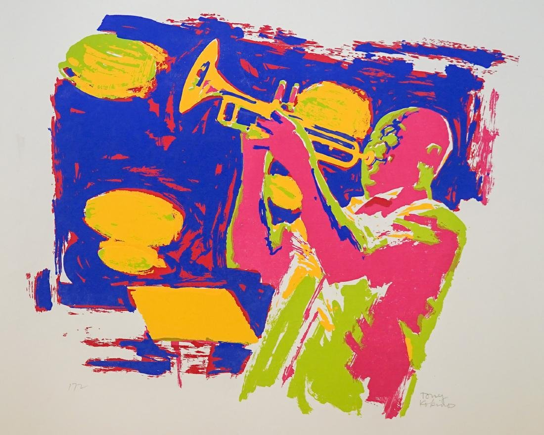 Louis Armstrong Lithograph by Tony Kokinos