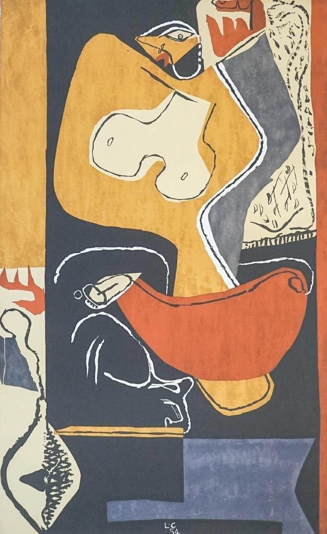Le Corbusier [Femme a la Main Levee] Lithograph