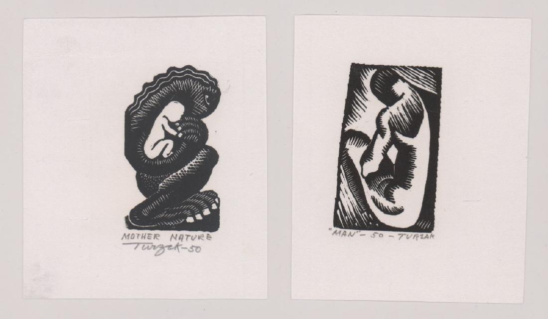 Charles Turzak Two Woodcuts