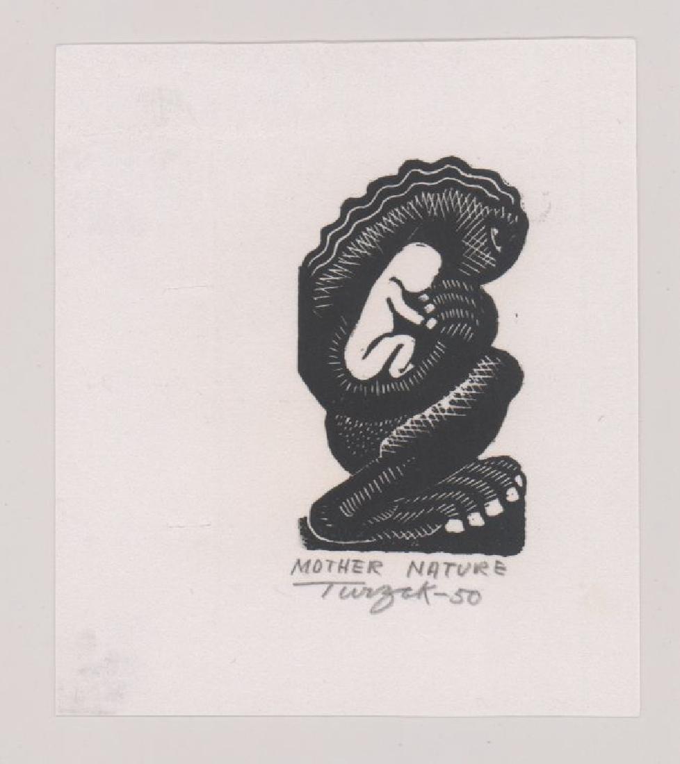 Charles Turzak Two Woodcuts - 2