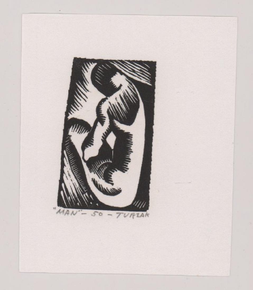 Charles Turzak Two Woodcuts - 3