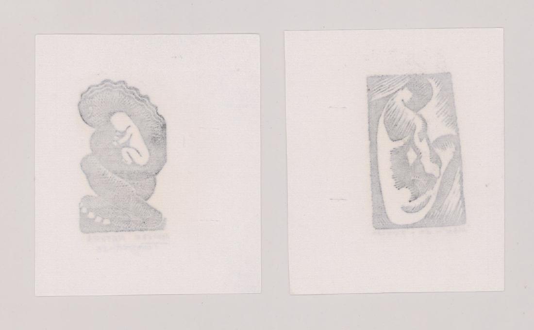 Charles Turzak Two Woodcuts - 4