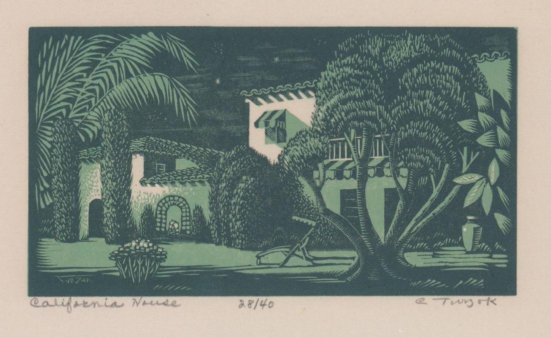 Charles Turzak Woodblock Print