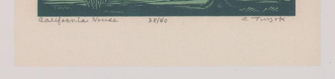 Charles Turzak Woodblock Print - 3
