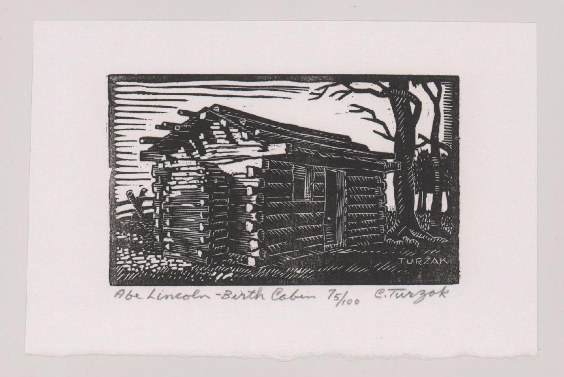 Charles Turzak Woodblock Print - 2