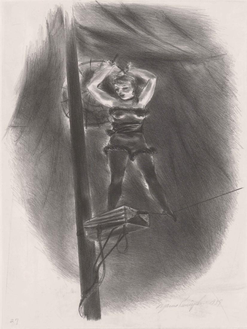 Yasuo Kuniyoshi (1889-1953) Lithograph