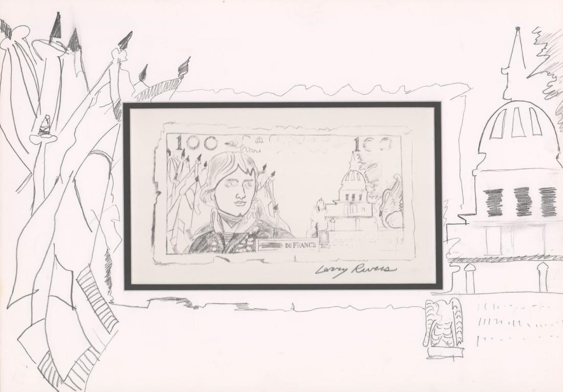 Larry Rivers Lithograph, Original Art On Mat