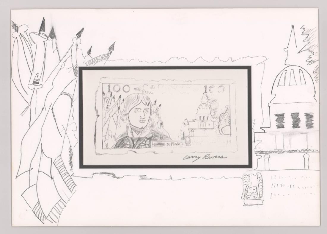 Larry Rivers Lithograph, Original Art On Mat - 2