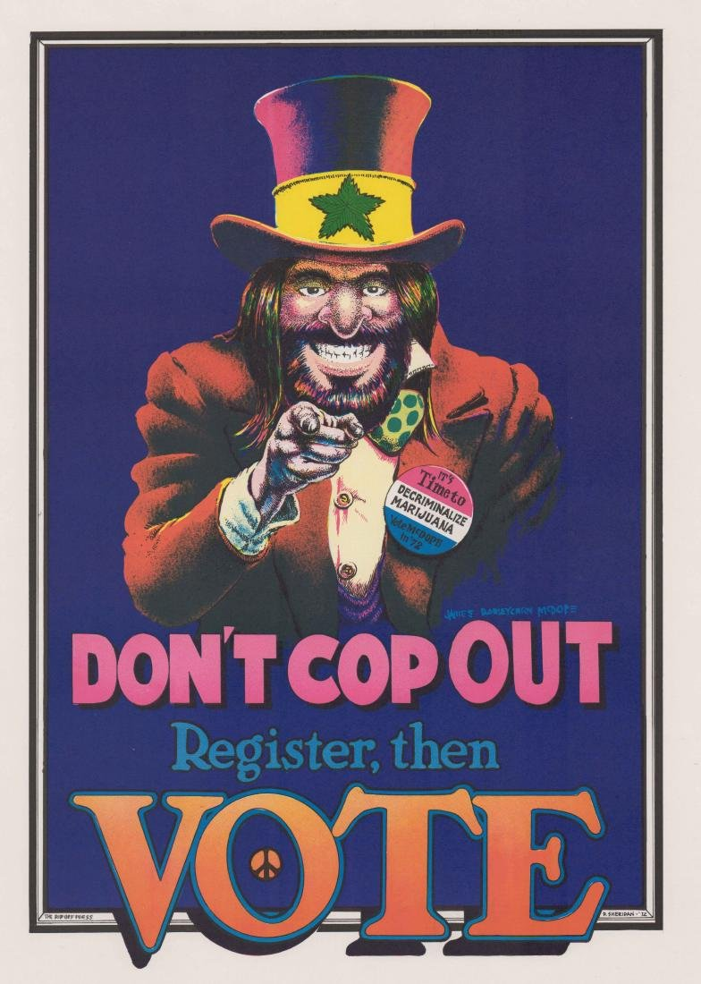 Dave Sheridan Poster [Don't Cop Out] Rip Off Press