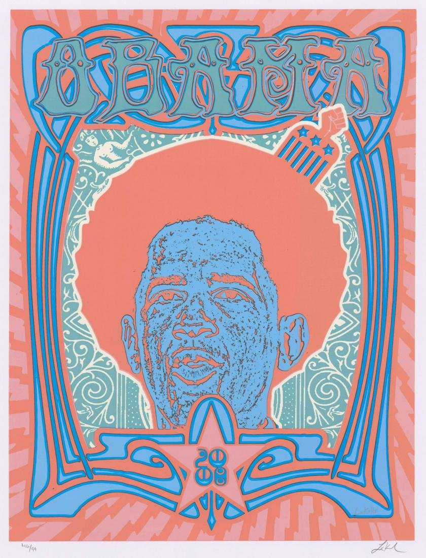 Obama Signed and Numbered Poster by Lindsey Kuhn