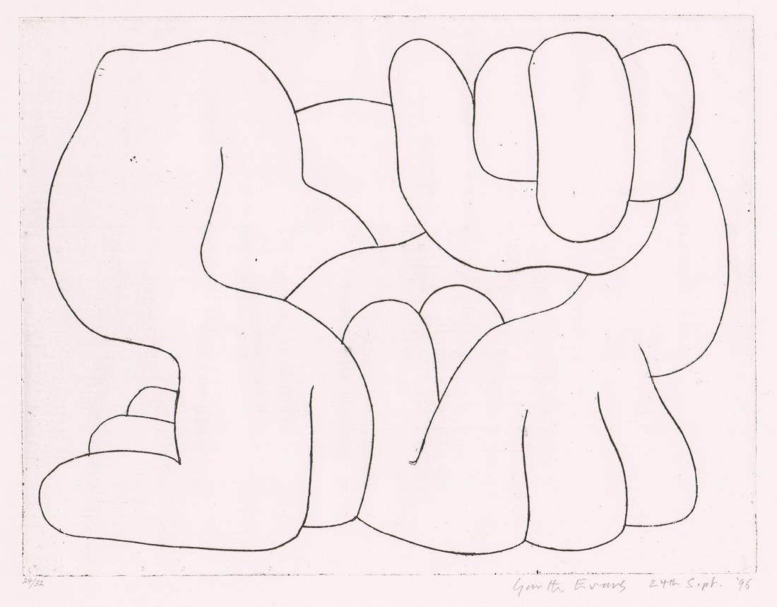 Garth Evans Etching [Hands]