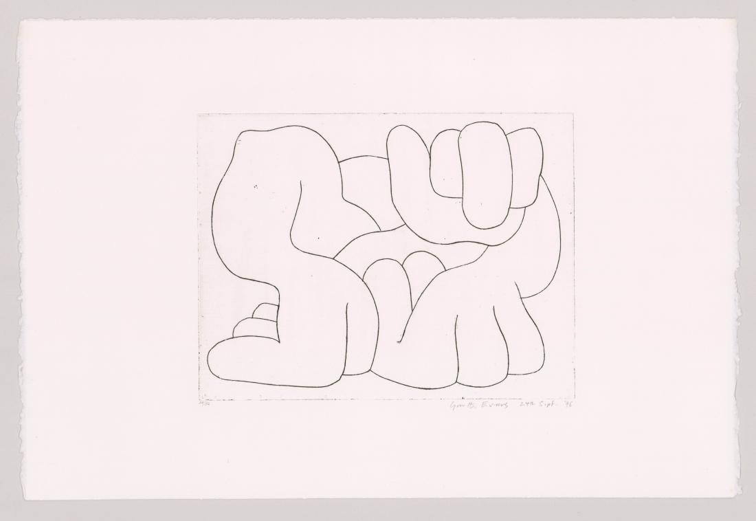 Garth Evans Etching [Hands] - 2