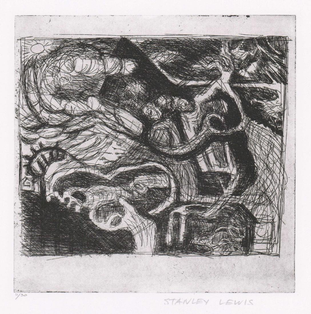 Stanley Lewis (Quebec, Canada 1930-2006) Etching