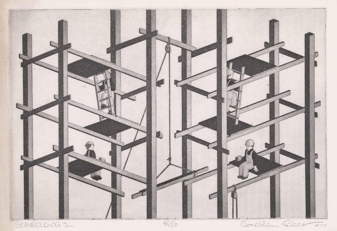 Jonathan Talbot (New York born 1939) Etching