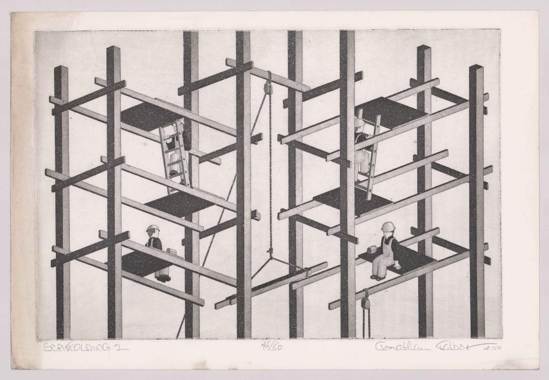 Jonathan Talbot (New York born 1939) Etching - 2