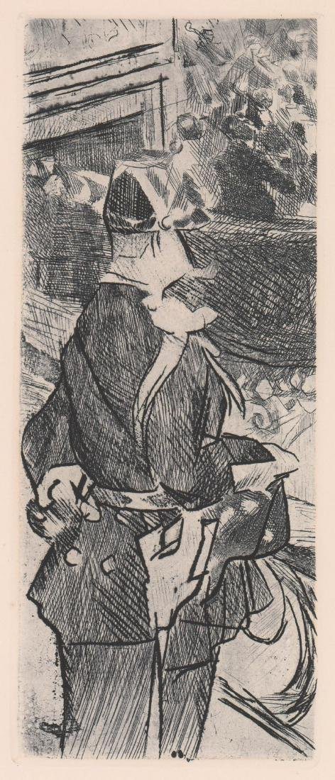 Jacques Villon Etching [Fete Champetre]