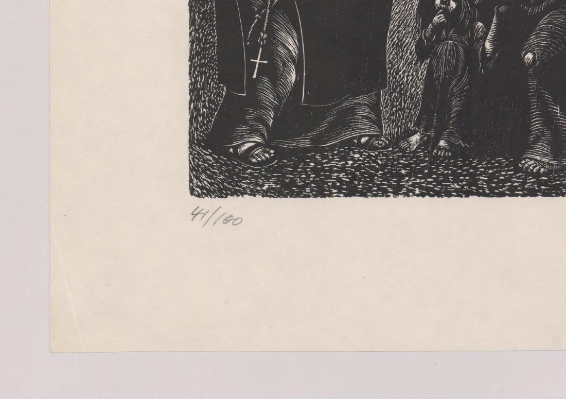 Fritz Eichenberg Signed Woodcut - 4
