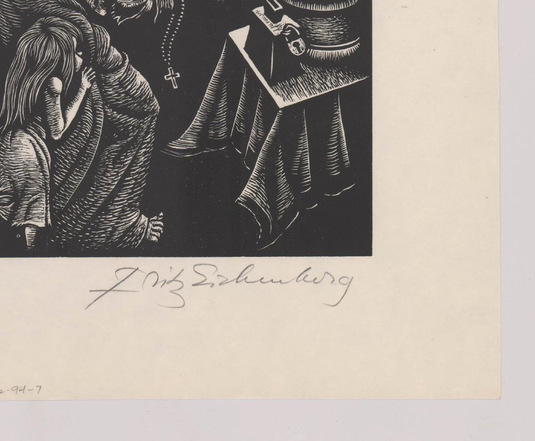 Fritz Eichenberg Signed Woodcut - 3