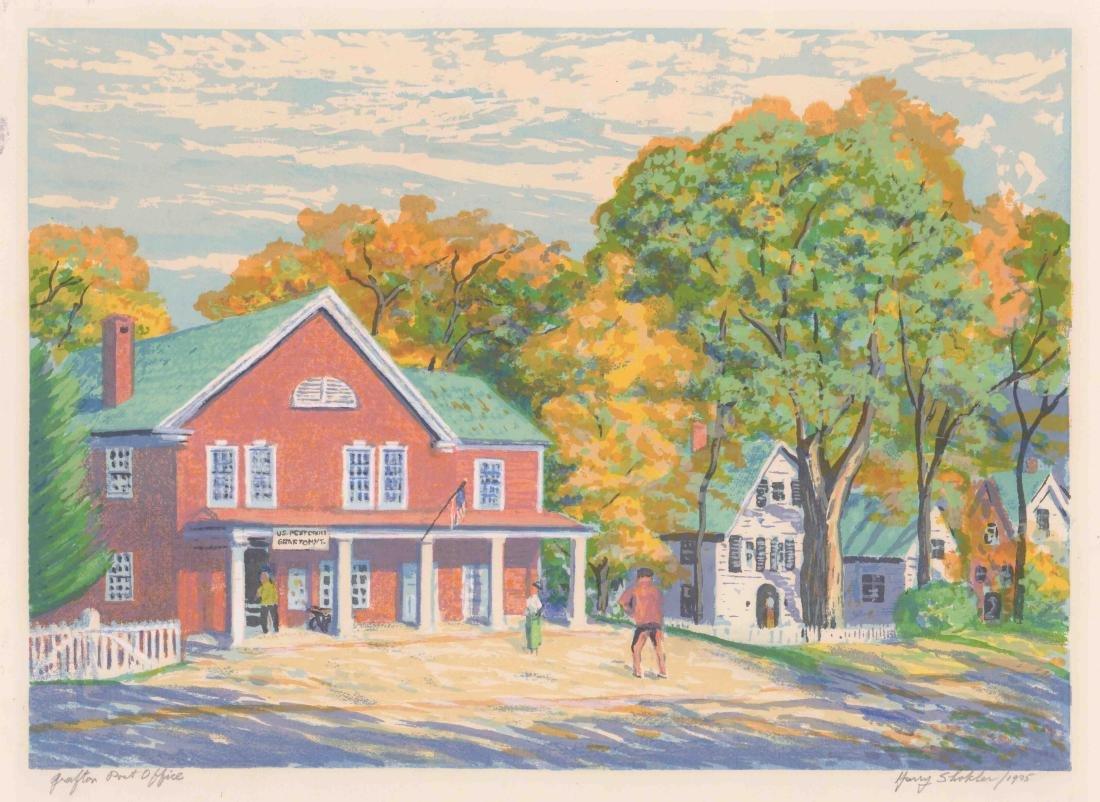Harry Shokler Signed Serigraph [Grafton Post Office