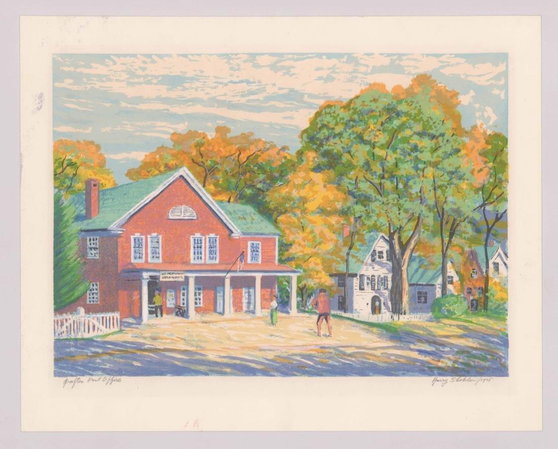 Harry Shokler Signed Serigraph [Grafton Post Office - 2