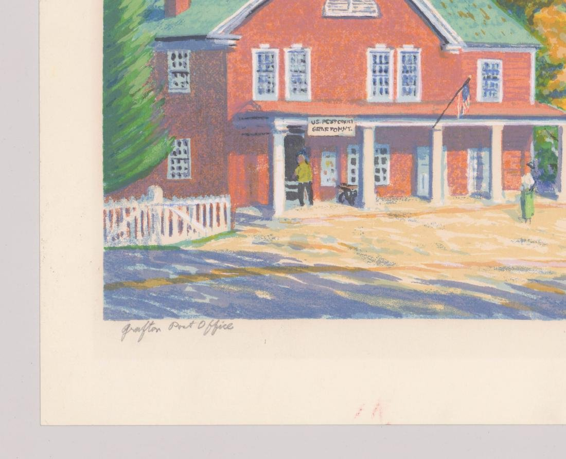 Harry Shokler Signed Serigraph [Grafton Post Office - 3