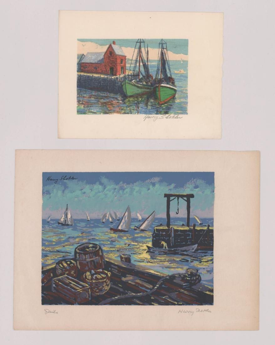 Harry Shokler Serigraphs, Two