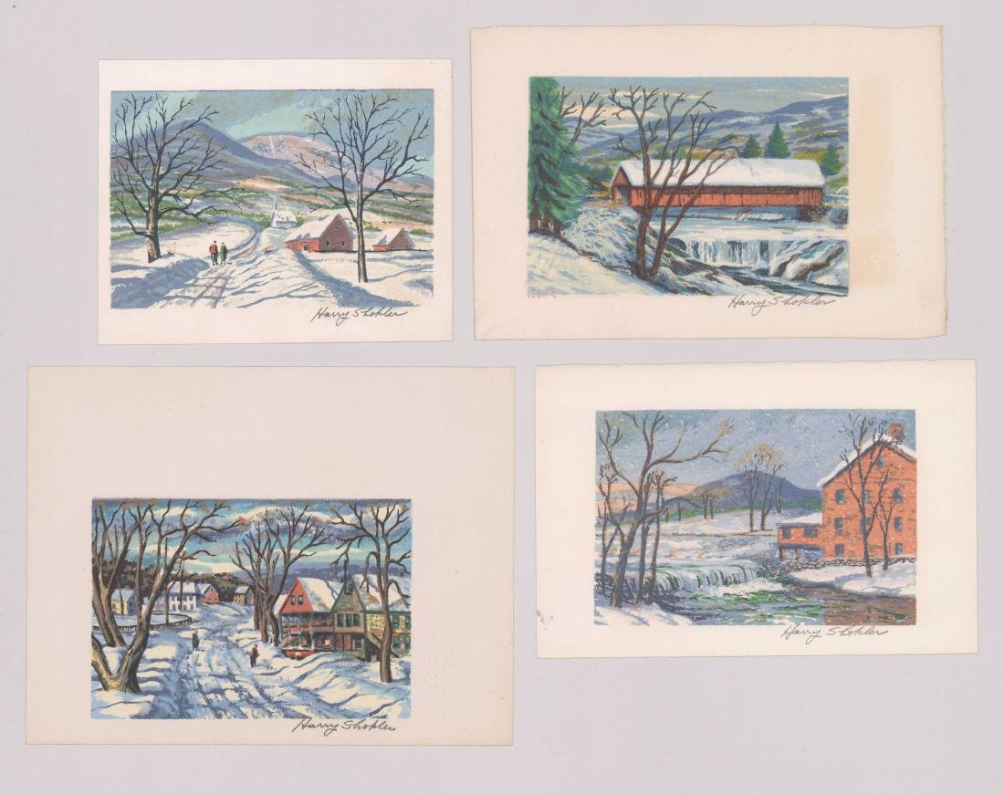 Harry Shokler Serigraphs, Four