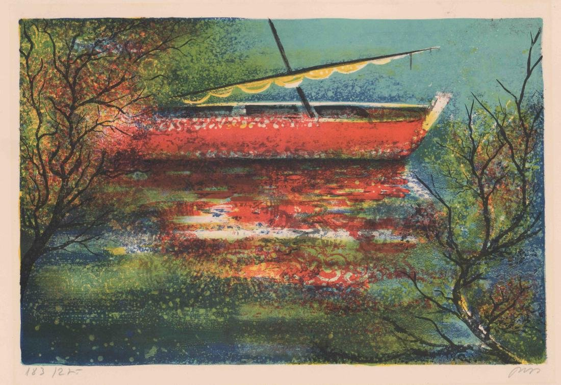 Mid-Century Signed Lithograph