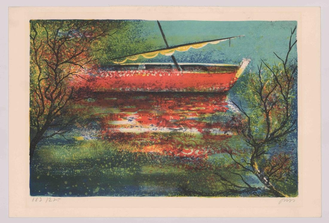 Mid-Century Signed Lithograph - 2