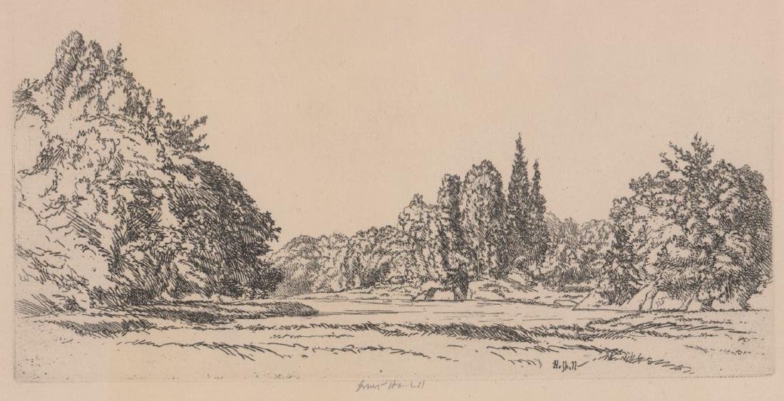 Ernest Haskell (1876-1925) Etching