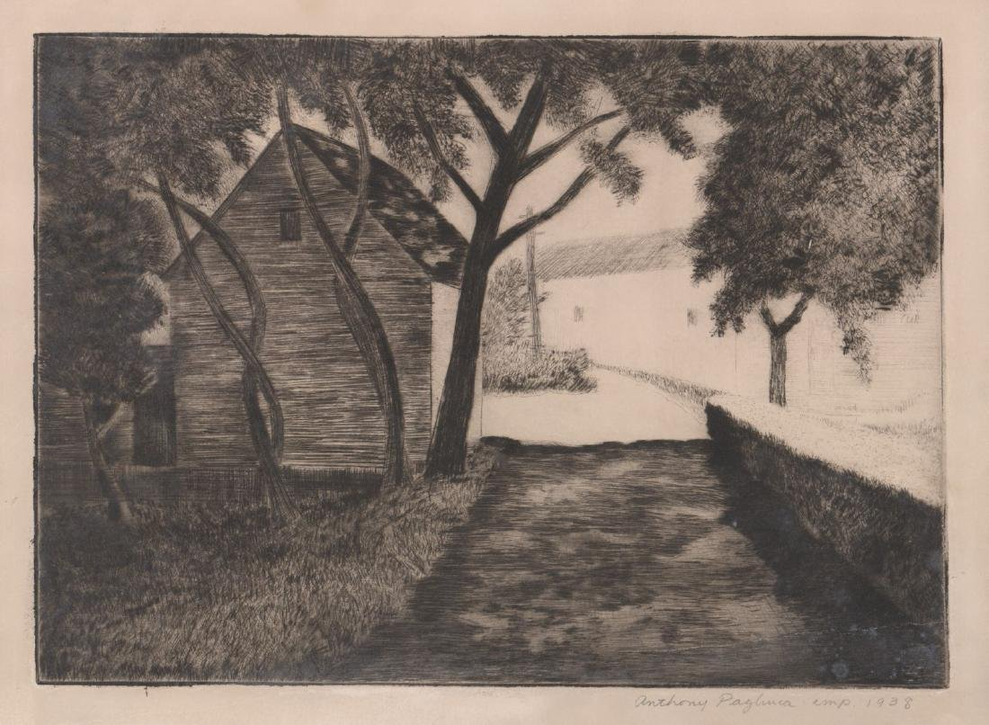 Anthony Paglinea (1897-1993) Etching