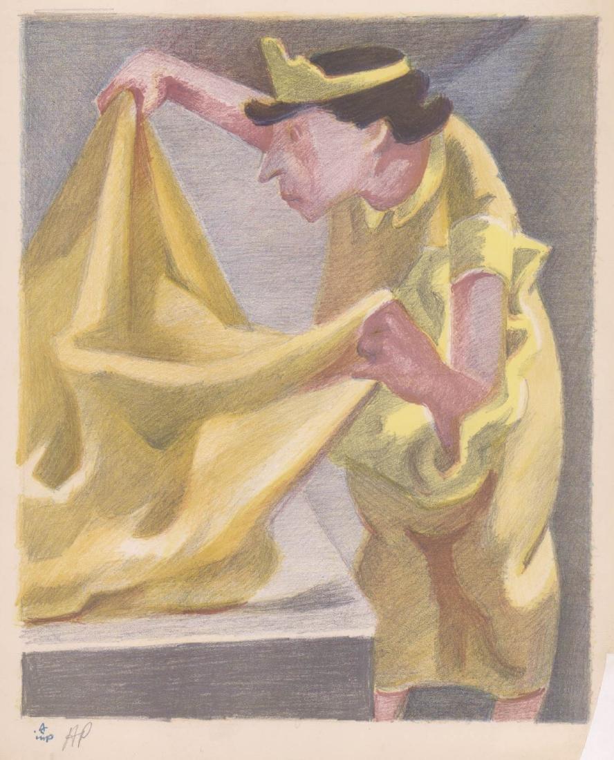 Albert Carman (New York 1899-1949) Color Litho