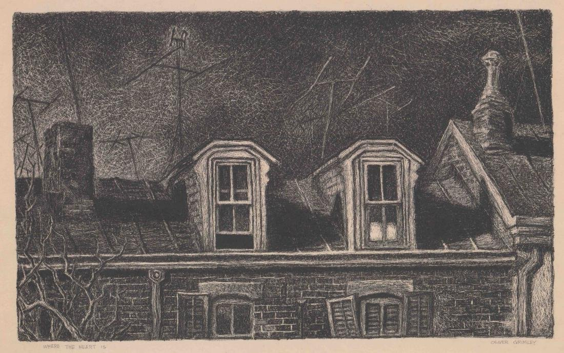 Oliver Grimley Lithograph