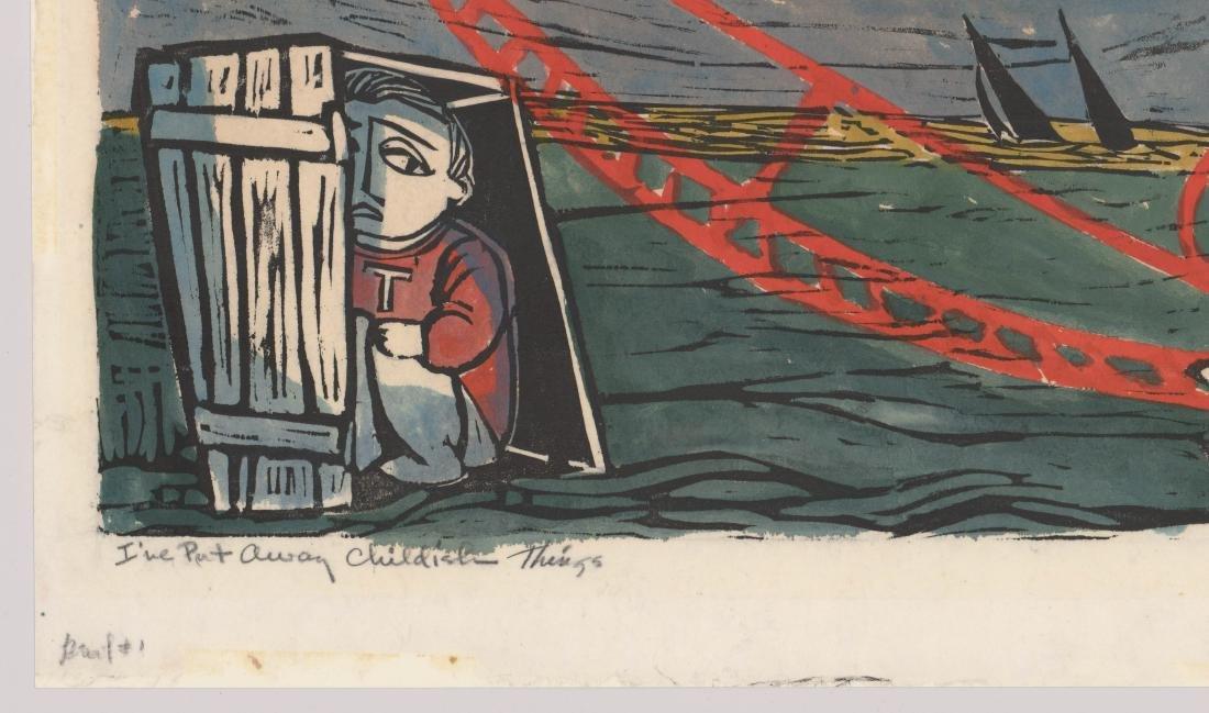Maxil Ballinger Woodcut - 3