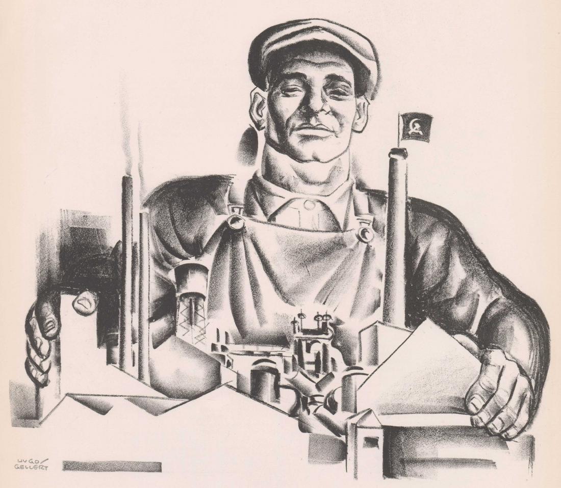 Hugo Gellert Signed Lithograph