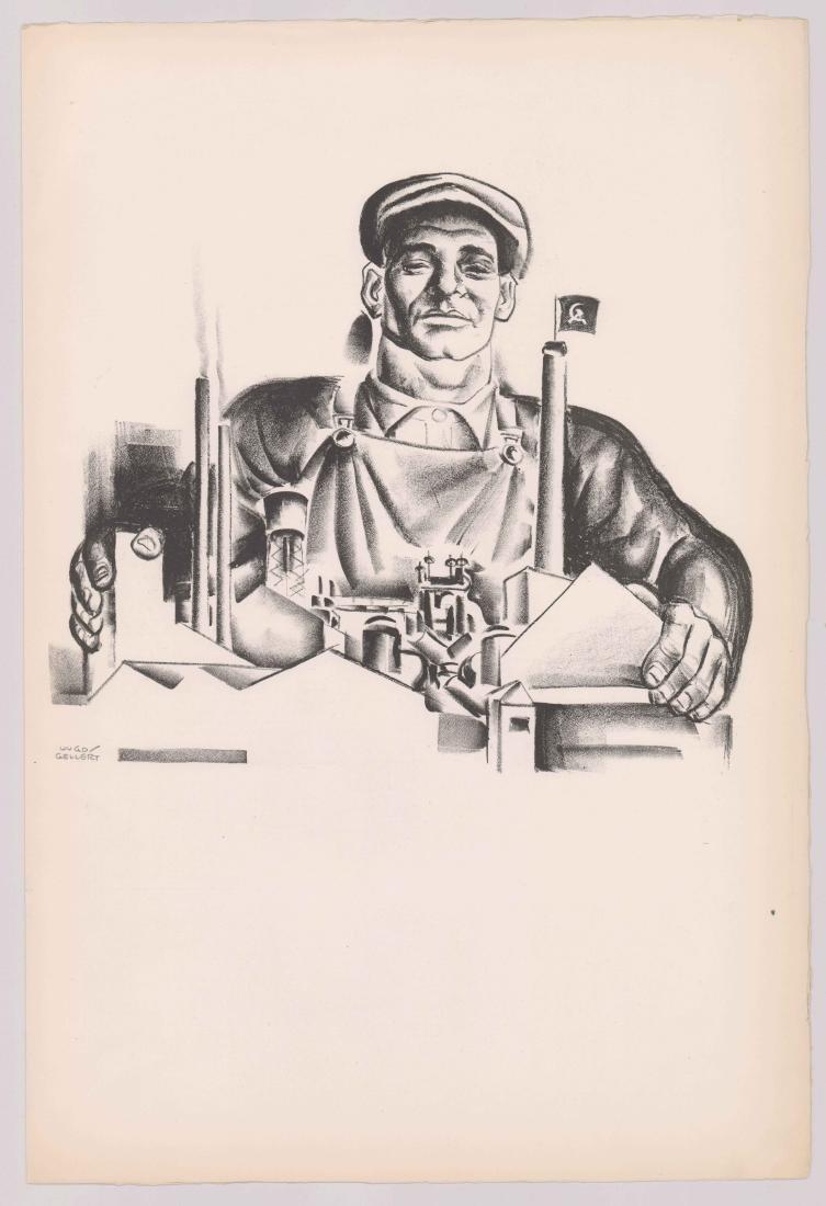 Hugo Gellert Signed Lithograph - 2