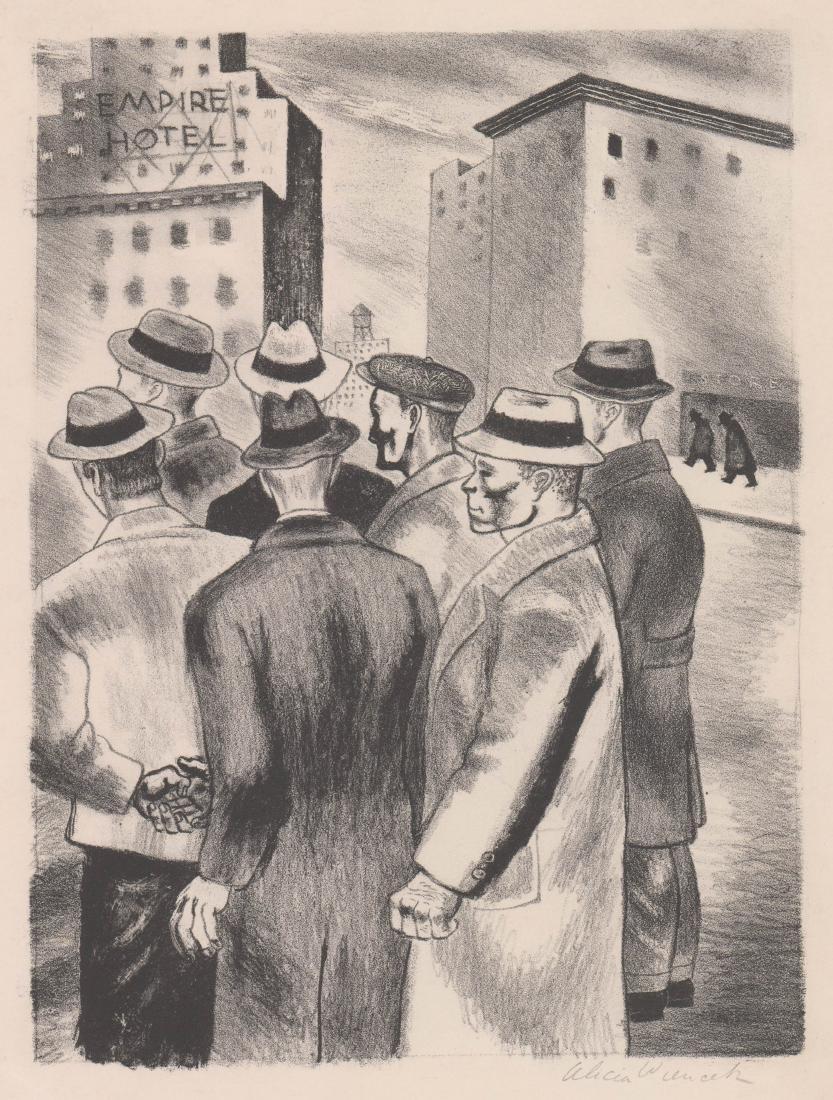 Alicia Weincek (New York, 20th century) Litho