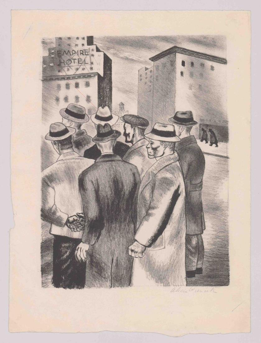 Alicia Weincek (New York, 20th century) Litho - 2