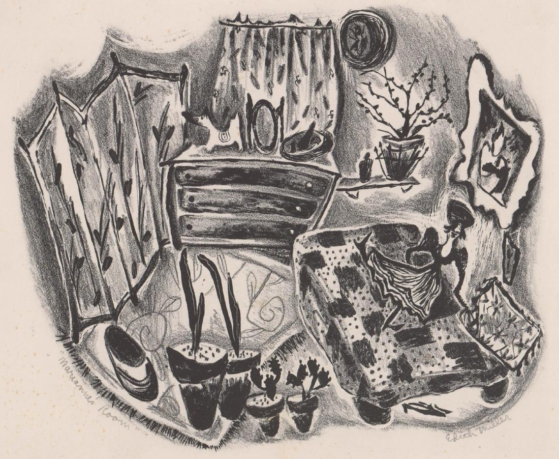 Edith Miller Lithograph