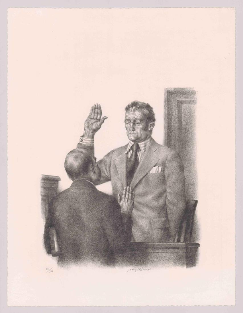 Joseph Hirsch Lithograph [Taking The Oath] - 2